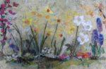 Textile Collage Spring Garden