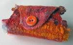 Hand Felted Bracelet Cuff Red & Orange