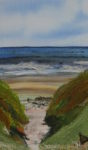 Textile Collage Rhossili Beach