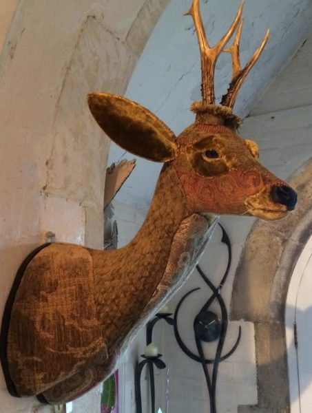 Textile Taxidermy of Roe Deer