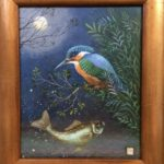 Original acrylic Kingfisher painting
