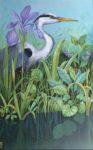 Original Acrylic Heron painting