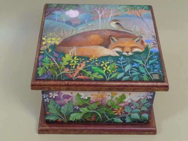 Hand painted box Midnight Lullaby