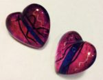 Acrylic Heart shaped Earrings Purple
