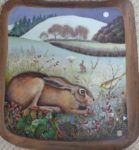 Hand painted oak panel 'The Gift'