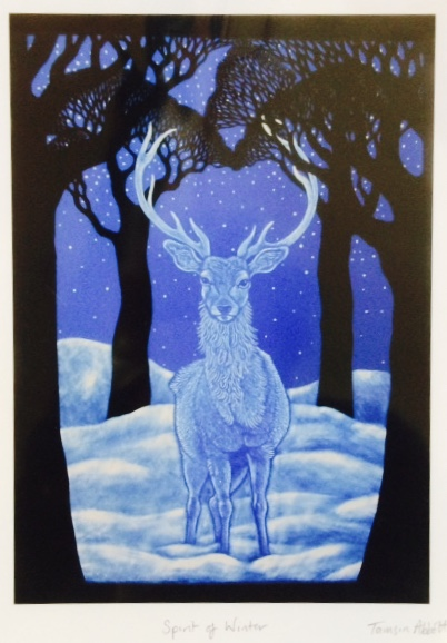 Print of Stained Glass Panel - Stag