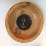 Copper Inset Uffington Horse on Oak bowl