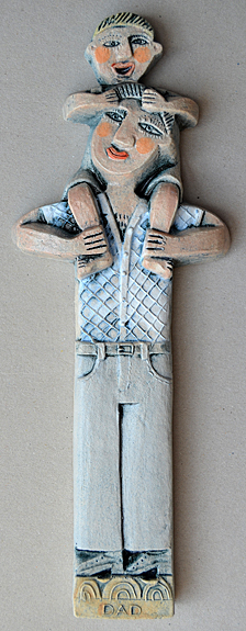 Ceramic Relief 'Dad'