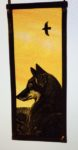 NEW Stained Glass Panel 'Fox and Crow'
