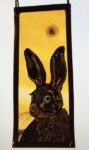 NEW Stained Glass Panel 'Evening Star Hare'