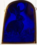 NEW Stained Glass Panel 'Bluebell Hare'