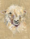 Textile Collage Cotswold Sheep #12