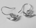 Silver Bird Drop Earrings