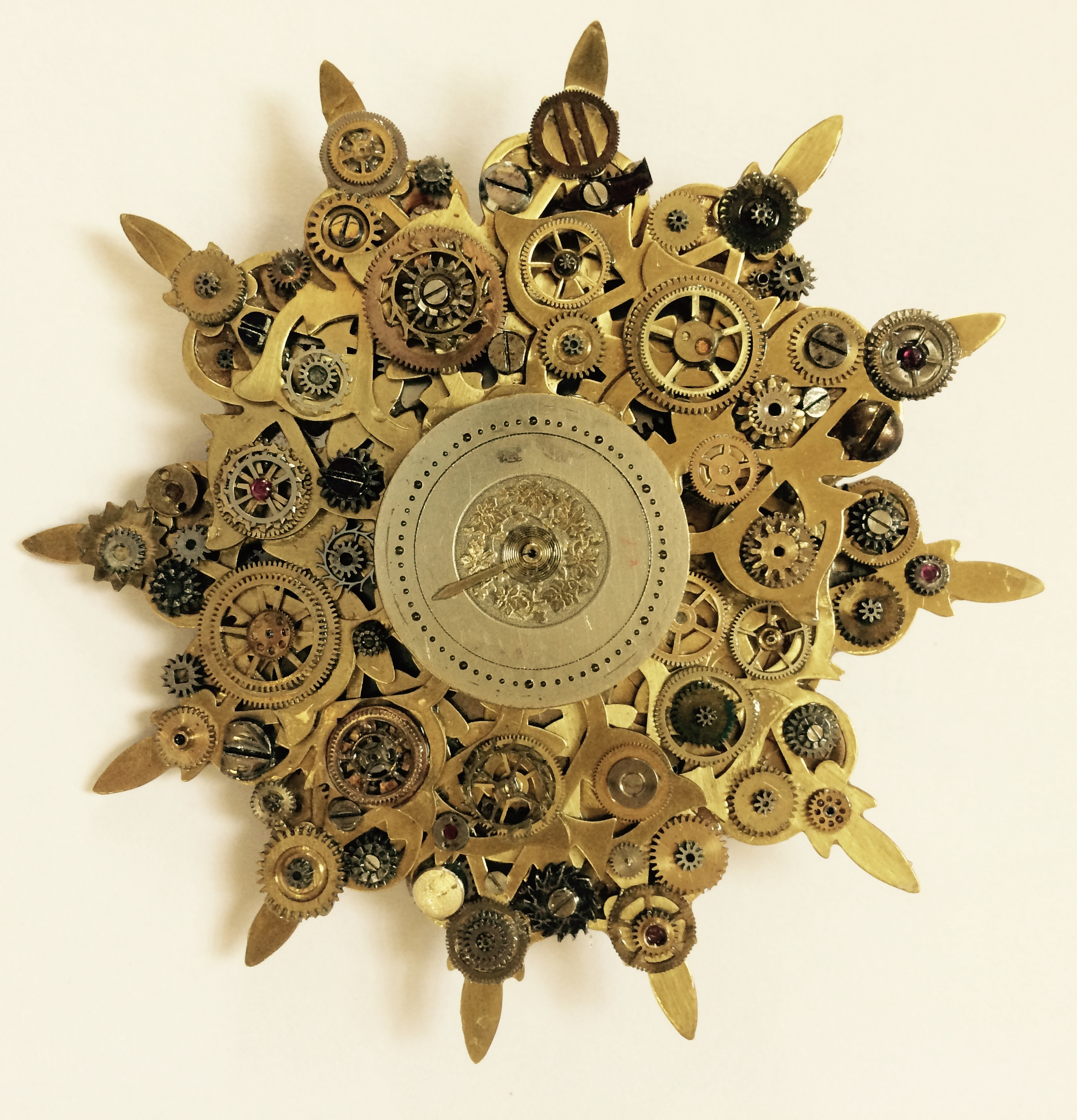 Brooch with Watch Piece parts
