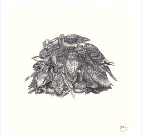 Print from Original Biro drawing 'Heap'