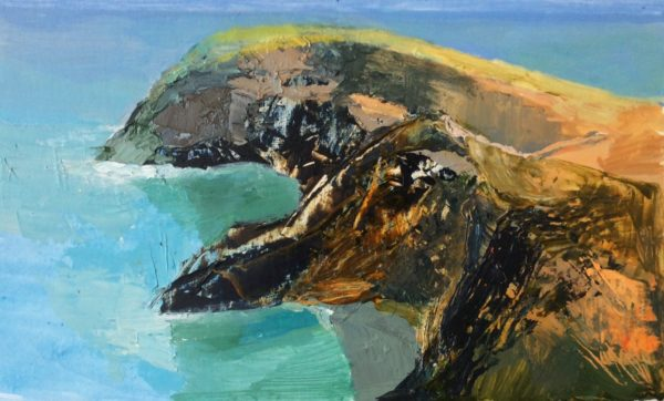 'New' Acrylic Original 'Llangranog Coves'