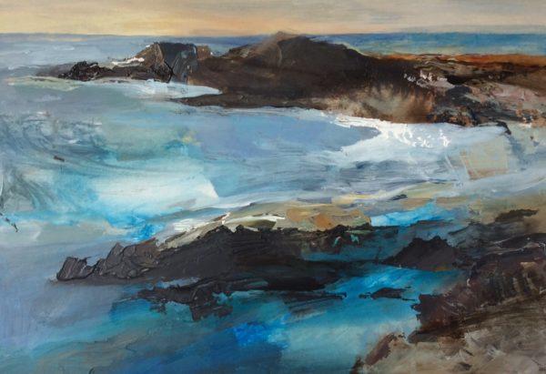 Acrylic original Caerfai Sea Swell
