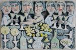 Ceramic Relief 'Celebration'