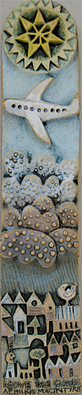 Ceramic Relief 'Above The Clouds'
