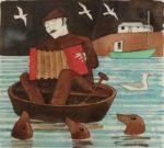 Original Watercolour 'Music To The Seals'