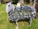 Forged Iron sheep sculpture