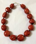 Necklace in Red Sea Bamboo with onyx