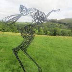 Hare Barely There Garden Sculpture