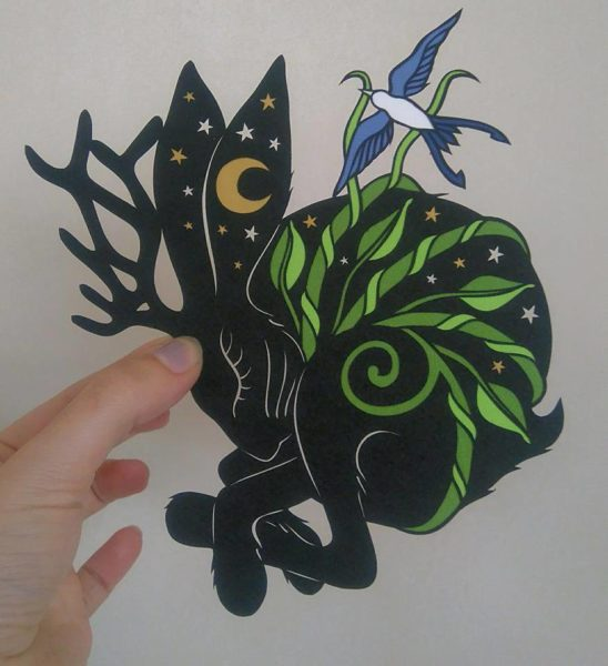 Paper-Cut Illustration 'Come Away With Me'