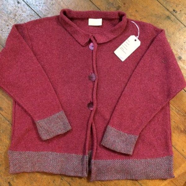 Cardigan One Size Old Rose and Sage
