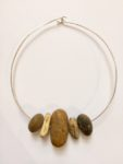 Necklace with Pebbles on Silver