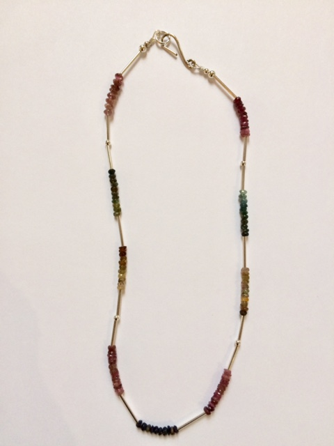 Necklace in Tourmaline and Silver