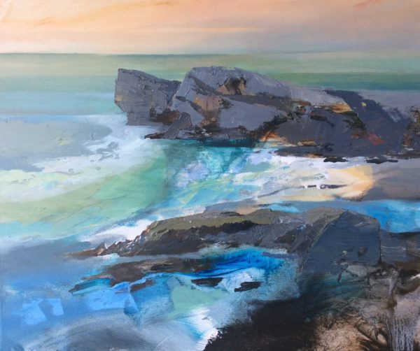 Acrylic on Canvas Original Seascape