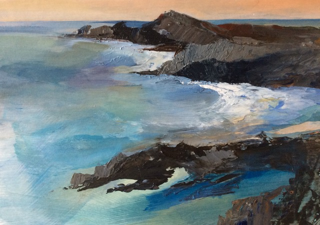 Acrylic Original Seascape Sea Swell