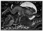 Wood Engraving Hare & Woodcocks