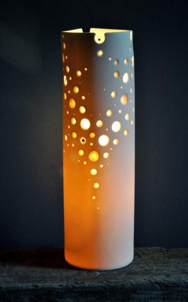 Porcelain Cylinder Light 'Coral'