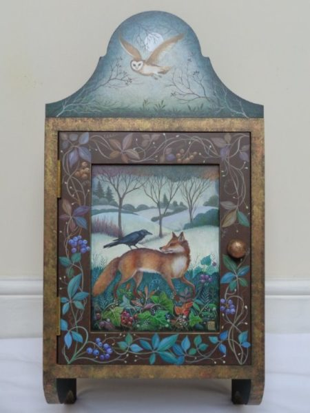 Hand painted cupboard 'Woodland'