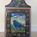 Hand painted cupboard 'Twilight Crow'