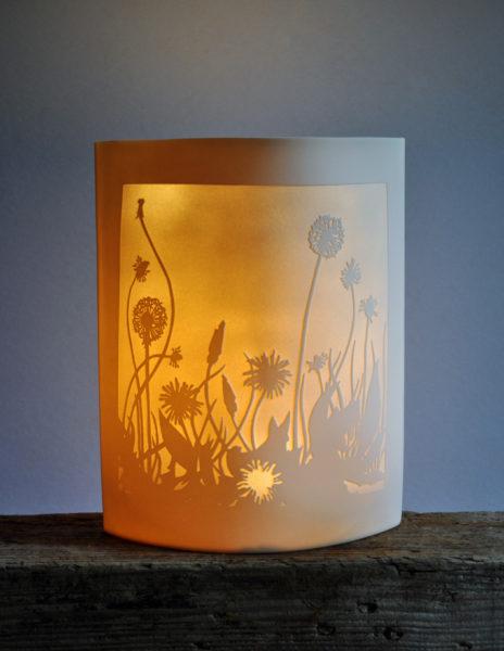 Porcelain Ellipse Light 'Dandelions'