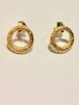 Silver Gilt 18ct Ring Stud earrings