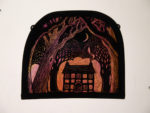Stained Glass Panel 'Woodland Cottage'