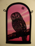 Stained Glass Panel 'Tawny Owl'