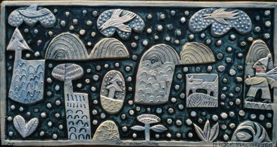 Ceramic Relief 'It's Snowing'