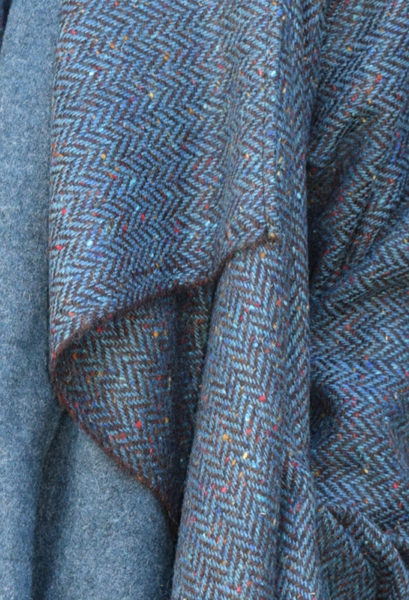 New Edy Coat in Harris Tweed Herringbone