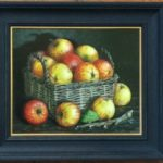 Still Life in oil on board 'Basket of Cider Apples'