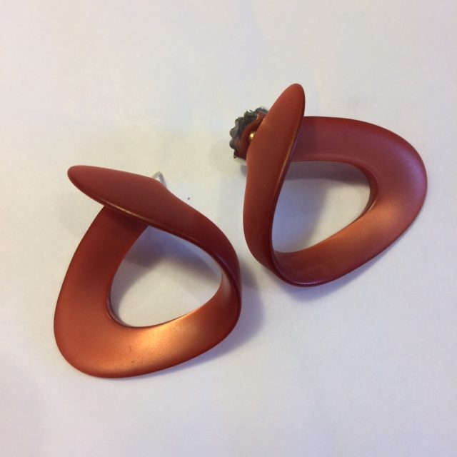 Cellulose Acetate Stud Earrings Loop