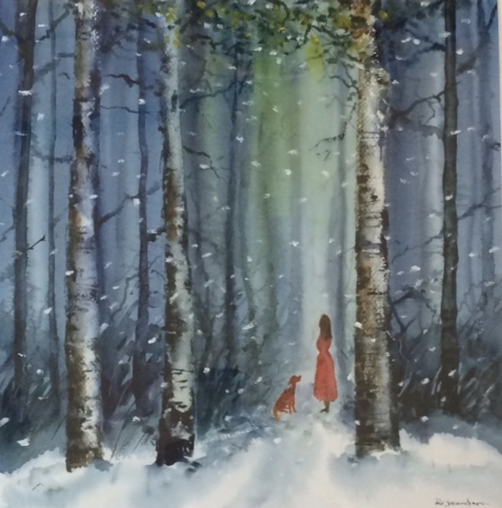 Original Watercolour 'Wish Upon A Star'