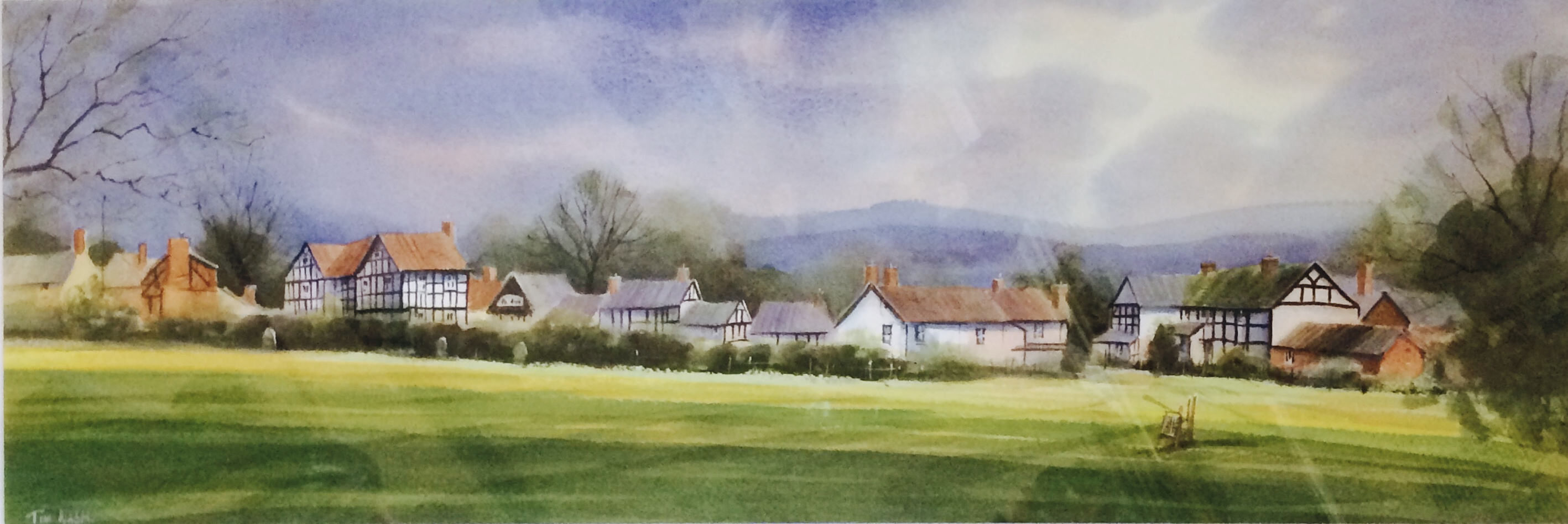 Original Watercolour 'Below The Bell Tower, Pembridge'