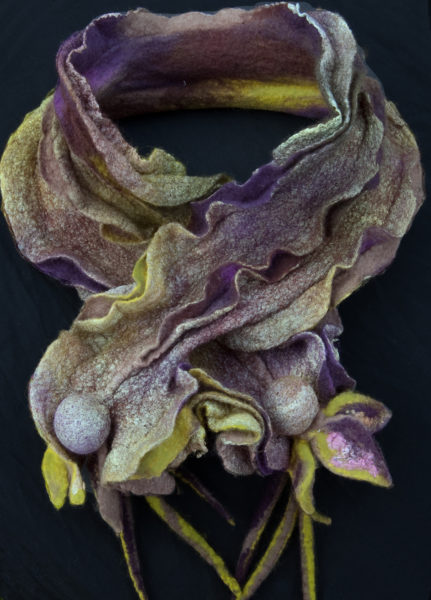 Hand Felted Collar in Merino Wool
