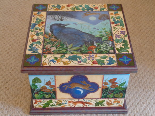 Hand Painted Wooden Box 'Sacred Night'