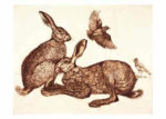 Limited Edition Etching 'Hares and Skylarks'